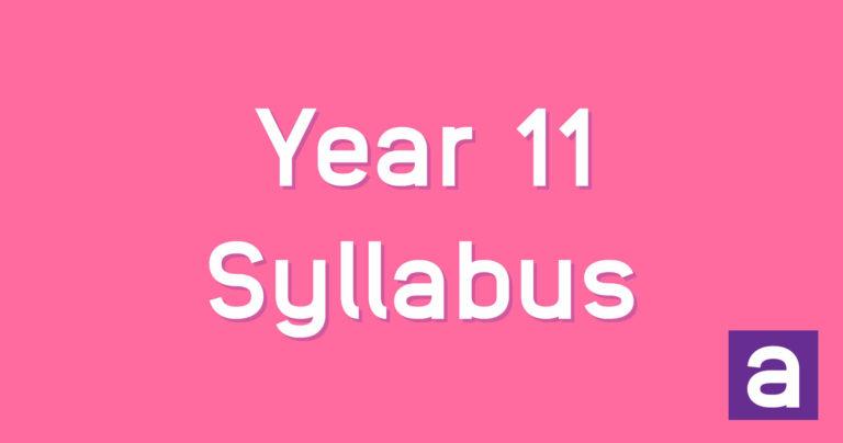 Preliminary HSC syllabus